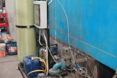Particolare filtri tunnel pretrattamento chimico.