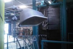 Vasca trattata da macchina granigliatrice