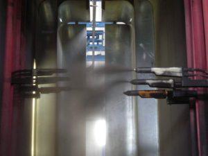 Particolare dei robot di verniciatura