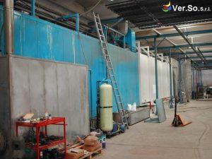 45 metri è la lunghezza del tunnel automatico di pretrattamento meccanico e chimico